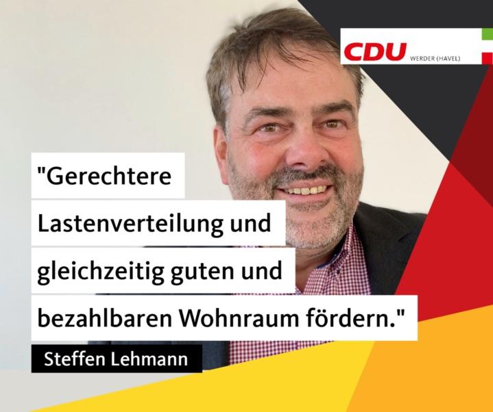 Steffen Lehmann: Gerechtere Lastenverteilung erreichen und gleichzeitig guten und bezahlbaren Wohnraum fördern.